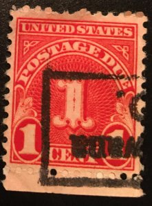 J80 b Postage Due 1c, 11 x 10 1/2 perf., single, Vic's Stamp Stash