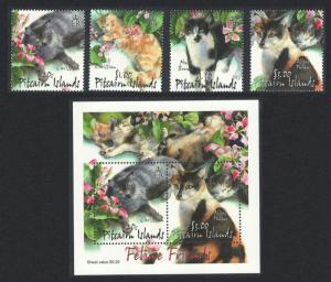 Pitcairn Cats 4v+MS SG#618-MS622 SC#557-561