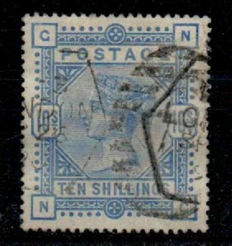 GB SG183a 1883 10/= PALE ULTRAMARINE USED
