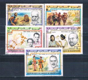 Mauritania 359-60;C177-79 Used set Nobel prize winners 1977 (MV0189)