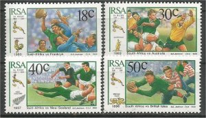SOUTH AFRICA, 1989, MNH Complete set, Springboks Scott 770-773