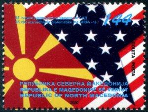 2021 Macedonia Relations United States (Scott NA) MNH
