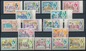 Bermuda stamp Definitive set with overprint MNH 1970 Mi 227-241 WS113930