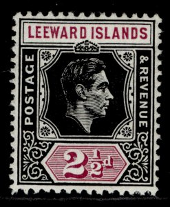 LEEWARD ISLANDS GVI SG106, 2½d black & purple, M MINT.