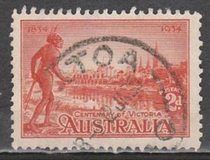 #142a Australia Used Perf 11-1/2