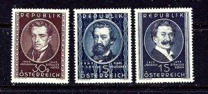 Austria 560-62 MH 1949 Portraits  #1