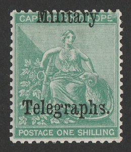 BECHUANALAND 1885 Military Telegraphs on Cape 1/- Hope Seated.