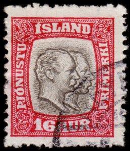 Iceland Scott O36 (1907-08) Used H F-VF, CV $40.00 C