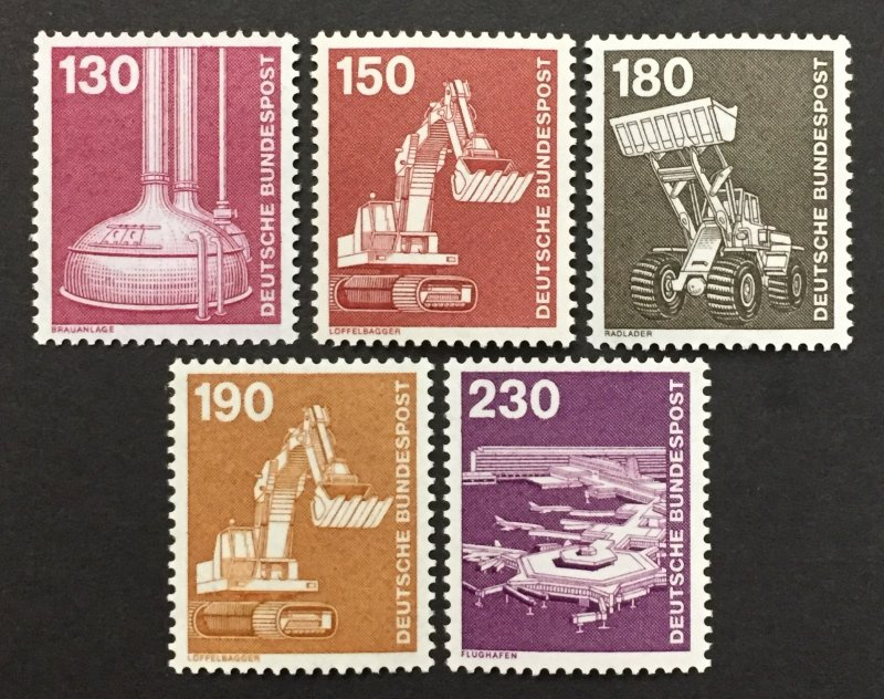 Germany  1975-82 #1182,84,86-7,89, Definitive's, MNH.