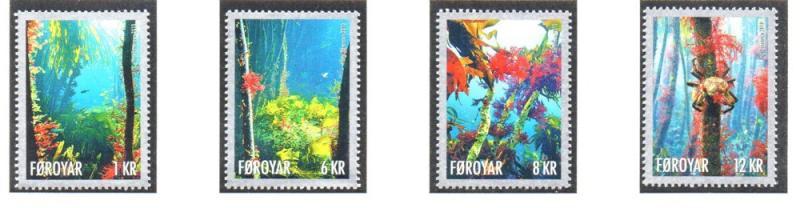 Faroe Islands Sc 525-8 2010 Marine Life stamp set mint NH