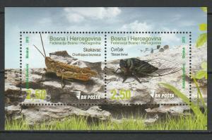 Bosnia and Herzegovina 2013 Insects MNH Block