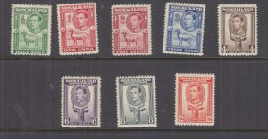 SOMALILAND PROTECTORATE, 1938 KGVI set of 8 to 12a., heavy hinged mint.