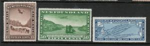 Newfoundland #C6 #C7 #C8 Very Fine Mint Lightly Hinged