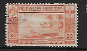 FR. NEW HEBRIDES 58 USED BEACH SCENE 1938