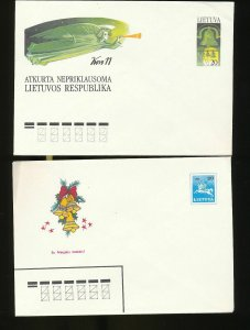 Lithuania 1990s Covers FDC Cards x 20 (W662