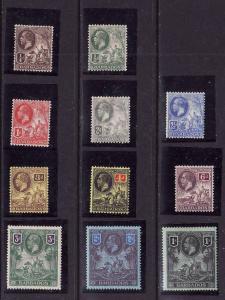 Barbados-Sc#116-26-unused hinged/hinge remnant KGV set-1912-S/H costs