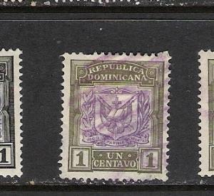 DOMINICAN REP. DOMINICANA 123 VFU ARMS 131A A