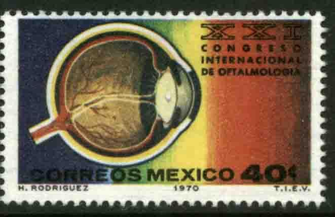 MEXICO 1026, International Ophthalmology Congress MINT, NH. F-VF.
