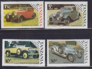 Tanzania MNH 263-6 Classic Automobiles 1985 SCV 1.45