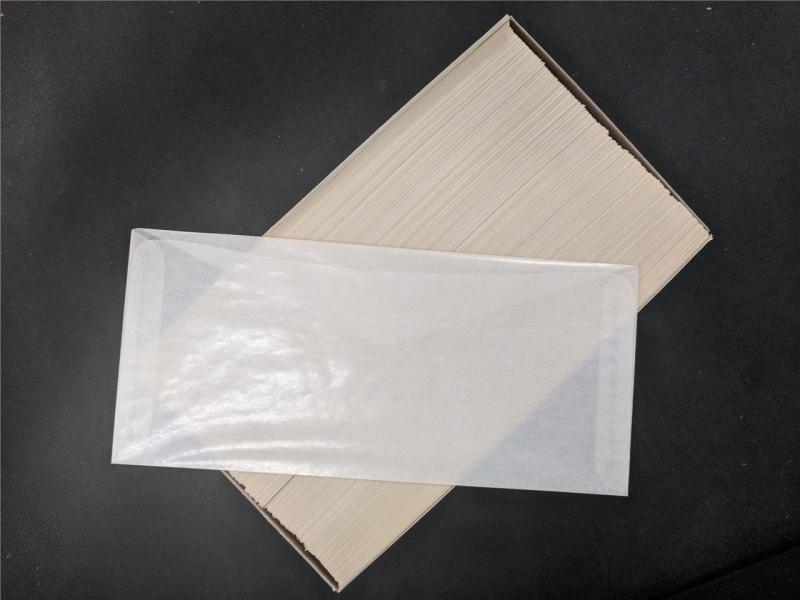 Stamp & Cover Supplies Unused 500 Glassine Envelopes 4 x 8 7/8 in Box