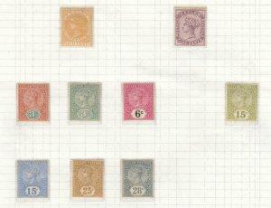 CEYLON #s91,131-134,136-139 VF-MLH QUEEN VICTORIAN ISSUES CAT VALUE $68.50