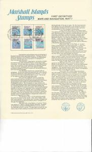 Marshall Islands First Definitives Panel, 35-8, 44, 49a FDC EXPO 84 NY  1984
