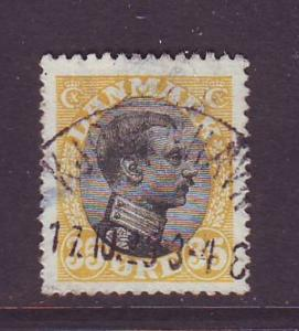 Denmark Sc 115 1919 35 o Christian X stamp used