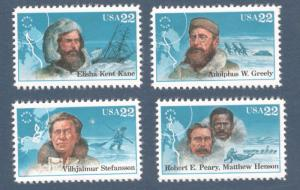 2220-3 Arctic Explorers Set Of 4 Mint/nh FREE SHIPPING (A-195)