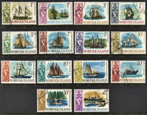 STAMP STATION PERTH Norfolk Island #100-113 Ships Set Issue  FU - CV$14.00