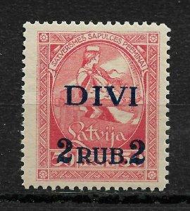 Latvia 1921,Surcharged 2 Rubles on 50k,Scott # 90,VF MNH**OG