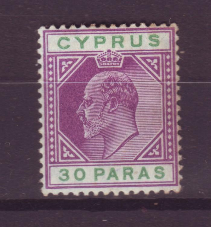 J18906 Jlstamps 1904 cyprus mh #51 pencil writting on back