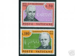VATICAN Scott 526-7 MNH** Music Men stamp set 1972