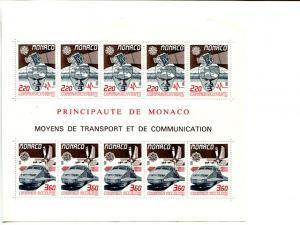 Monaco 1988 Europa mini sheet   Mint VF NH