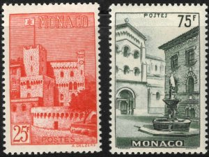 Monaco #319-20 M/H 25% of SCV $26.25 **FREE SHIPPING**