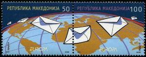 HERRICKSTAMP MACEDONIA Sc.# 434 Europa 2008 The Letter