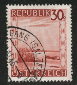 Austria Scott 467 Used stamp from 1945-46 set