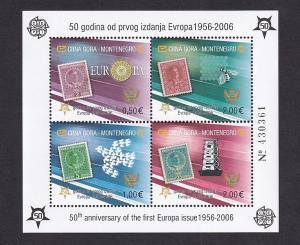 Montenegro   #129E   MNH  2006  Europa stamps 50th anniversary
