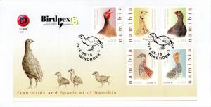 Namibia - 2018 Francolins and Spurfowl FDC