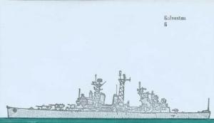 USS GALVESTON - Light Cruiser CL-19 cachet
