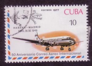 Cuba Sc. # 2163 CTO Airplanes