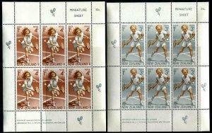 HERRICKSTAMP NEW ZEALAND Sc.# B85A-86A Tennis 1972 S/S Mint NH Cat. Value $19