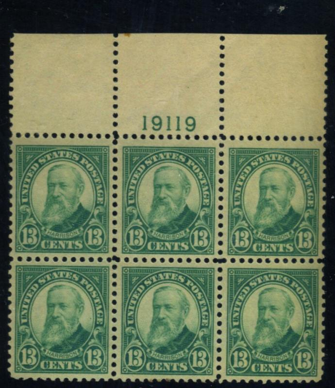 622 MINT Plate block F-VF OG Selvage LH stps NH Cat$215