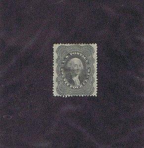SC# 37 UNUSED PARTIAL ORIGINAL GUM POSSIBLY PREV HINGED 24C WASHINGTON, 1860