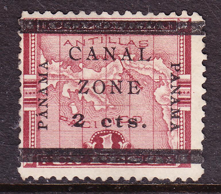 Canal Zone Nr.17b 1906 Mint(*) overprint type-f