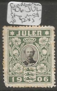 Denmark Cinderella 1906 Jubilee MOG (3cry)