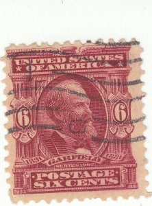 Scott #305 - 6c Claret - Garfield - Used -SCV - $5.75