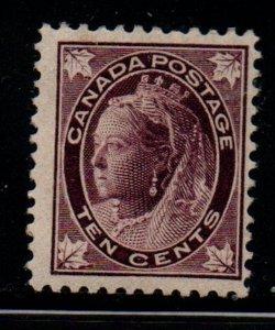 Canada Sc 73 1898 10c brown violet Victoria Maple Leaf stamp mint