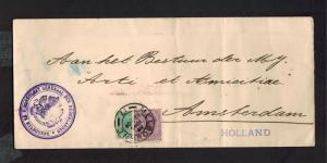 1904 Netherlands Consul Cover Melbourne Australia to Amsterdam Diplomatic Mail