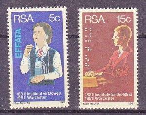 South Africa MNH 550-1 Institute For Deaf & Blind Health 1981