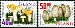 Iceland #898-899 Mushrooms - MNH